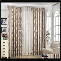 Cortinas modernas modernas cinza cinza espessura cortinas para sala de estar Café impressão de faixa de faixa de cortina de quarto tule drape wp377 # 4 qmh fqisy