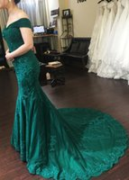 Dark Green Lace Mother of the Bride Dresses Mermaid Off Shoulder Beading Sequined Appliques Wedding Party Evening Gowns Custom Size