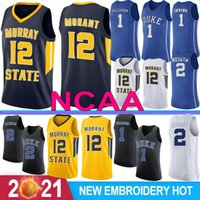 Zion 1 Williamson Ncaa Duke Blue Devils College Basket Basket Jerseys Ja 12 Morant Murray State RJ 5 Barrett 2 RedDis J.J 4 REDICK 32 Laettner 01