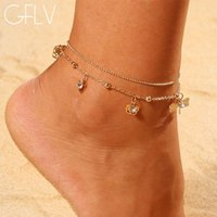 Bohemia Anklet Temperament Hollow- out Butterfly Double Drill...