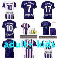 2021 2022 Jerseys de football Valadolid réel 21 22 Fede S. R. Alcaraz Sergi Guardiola Oscar Plano Camisetas de futbol Hommes Kit Enfants Chemises de football
