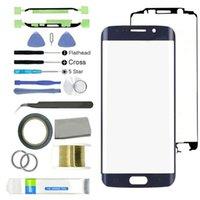 Outils de réparation de téléphone portable 16 en 1 Kit de réparation d'écran de verre avant de remplacement pour Galaxy S6 Edge G925 Panneau externe Touch Lentille