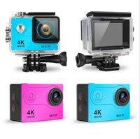 H9 كاميرا العمل فائقة الدقة 4 كيلو 30fps wifi 2.0 بوصة 170D تحت الماء للماء خوذة الفيديو تسجيل كاميرات الرياضة كاميرا بدون بطاقة sd