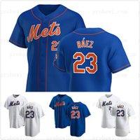 Mets 23 Javier Baez 2021 Вернуться к черному бейсболу Джерси Black Limited Edition Home Выездная дорога сшитые мужские женские молодежи