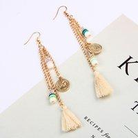 طويلة سلسلة شرابة أقراط للنساء البوهيمي طويل الخرزة استرخى القرط الأذن بيان مجوهرات الهدايا الكورية الأزياء 283 G2