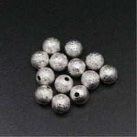 100 pcs / lote 4 6 8 10 12mm ouro redondo redondo espaçador espaçador grânulos fosinhados esfera miçangas miçangas para colar pulseira jóias fazendo 1230 Q2