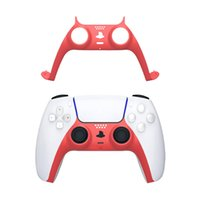 8 Colors PS5 Game Controller Gamepad Decoration Strip Replacement Face Shell Handle Cover Middle Frame DIY Gamepads Decorative Case DHL