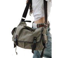 Cross Body Large Capacity Vintage Canvas Messenger Bags For Women 2021 Laptop Shoulder School Ladys Travel Casual Tote Feminina