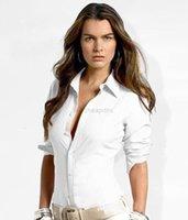 المرأة كم 2019 قصيرة بولو المرأة قمم قميص و البلوزات الصلبة قميص مكتب سيدة بلوزة قميص