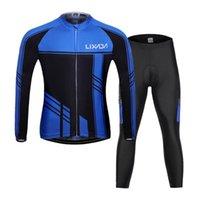Racing Sets Lixada мужская велосипедная одежда набор осенью зима длинный рукав ветрозащитный джерси пальто куртка с 3D мягкими брюками брюки