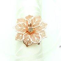 Portabiccio di nozze anelli titolari di metallo per cene party tavolo decorazione tavolo forniture fibbia DWD6178