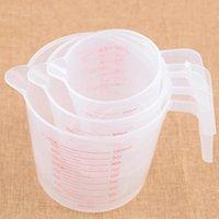 250 500 1000ml High Quality Plastic Measuring Cup Tools Clear Scale Show Transparent Mug Handle Pour Spout 3 sizes RH1697