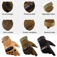 Cycling Gloves Us Army Men's Tactical Outdoor Sports Full Finger Military Combat Anti-Slip Carbon Fiber Shell