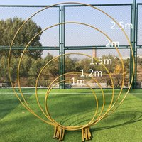 Party Decoration 6foot 8foot 2.5m Big Circle Wedding Birthday Arch Background Wrought Props Single Flower Door Rack Outdoor Lawn