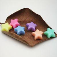 50pcs / lot couleur mixte acrylique perle constatations scintillants sur une étoile ronde à la main bricolage bricolage beads boucles d'oreilles bijoux