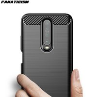 50pcs lot 4 Colors Ultra-thin Carbon Fiber Brushed Silicone Phone Cases For Xiaomi Redmi K20 Pro K20Pro Soft TPU Back Cover Shell
