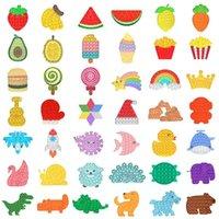 Azioni USA, 2021 Squeeze Toy Push Bubble Fidget Giocattoli Confezione del partito Autism Needs Needs Stress Reliever e Aumentare la messa a fuoco