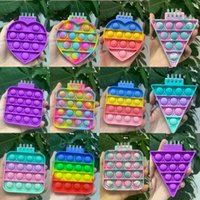 Mini Notebook Push Bubble Fidget Toys Adult Children Anti Stress Relief Toys Antistress Box Squeeze Kids Toys Gifts