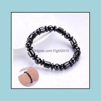 Favor Event Festive Party Supplies Home & Gardenmen Biomagnetic Mti-Shaped Natural Black Stone Therapy Magnetic Health Hand Bracelet Drop De