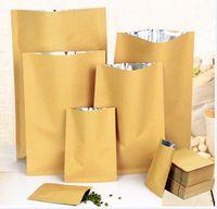 100 stücke 7x10cm flache Kraftpapierbeutel mit aluminisierter Innenheizdichtetasche Süßigkeiten getrocknete Nüsse Lebensmittel Tee DIY Geschenk Verpackungstasche