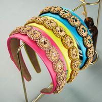 Элегантный многоцветный кристалл повязка на голову для женщины старинные блестящие горный хрусталь из бисера