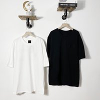 Мужские футболки совместно дизайна хлопчатобумажная футболка с короткими рукавами O-шеей 85236