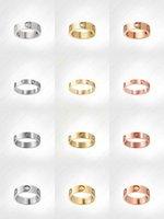 الحب المسمار الدائري رجل كلاسيكي فاخر مصمم مجوهرات النساء التيتانيوم الصلب سبيكة مطلية بالذهب الذهب والفضة ارتفع أبدا لا تتلاشى وليس الحساسية