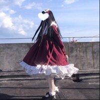 Gothic Lolita Frauen Kleid Weiche Schwestern Viktorianische mittelalterliche Spitze Rot Blau Rosa Party Weibliche Prinzessin Halloween Kostüm