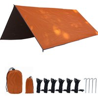 Tents And Shelters Awning Waterproof Tent Tarp Ultralight Garden Canopy Outdoor Camp Hammock Rain Sunscreen Shed
