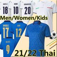 2021 Italien Fussball Jerseys Nationalmannschaft 20/21 Insignente Belotti Verratti Immobile Pirlo Chiesa Bonucci Football Hemd Männer Frauen Kinder Uniformen