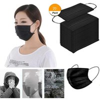 20pcs Adlut Disposable Face Mask Fashion 3 Layer Non-woven Fabric Masks Mouth Cover For Outdoors Masque Mascarilla Cycling Caps &