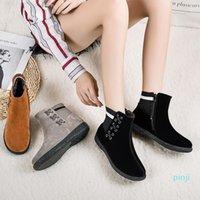 Autumn Winter Snow Boots Womens Large Size Plus Velvet Cotton Shoes Casual Fashion Thick Warm Short Boot