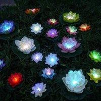 5 piezas artificial de fibra óptica fake lotus hoja flores agua lirio flotante estanque flor piscina plantas decoración de boda c70 t191029