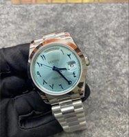 BP Factory Version Watch 2813 Mouvement V2 Bleu Cadran 228206 Oyster Silver Hyster Strapp Sapphire Glass 40 mm De Plongée Menes Montres