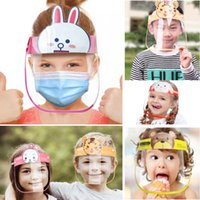 Children Cartoon Face Shield Anti-fog Mask Full Protective Transparent Pet Protection Head Cover Kid Gifts Party Hh9-3096