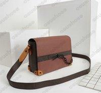 망 어깨 트렁크 가방 M30717 디자이너 크로스 바디 남성 모노그램 캐주얼 컴팩트 가방 빈티지 플랩 메신저 가방 Luxurys 디자이너 망 지갑 지갑 지갑