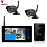 "YobangSecurity 7"" TFT LCD Wireless Video Door Phone Doorbell Entry Systems Kit With 2x Outdoor Surveillance Camera CCTV"