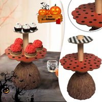 Other Bakeware Halloween Pumpkin Snack Plates Rack Bowl Cake Stand Dessert Fruit Dishes Party Buffet Display Tray For Food Serving #T3G