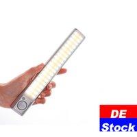 De Stock LED Luces de noche Portátil 160 LEDS Sensación de movimiento inalámbrico Armario Armario Luz de guardarropa Batería recargable