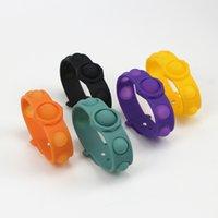 Push Bubble Finger Toys Silicone Fidget Simple Dimple Pop Wrist Bracelet Watchband Straps Toy Women Squeeze Bubbles Decompression Interest