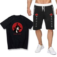 T-shirt Set Şort Japon Anime Ninja Kısa Kollu Naruto Üye Baskı Erkek Ve Kadın Pantolon Set