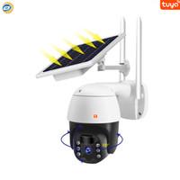 Tuya منخفضة استهلاك الطاقة لوحة للطاقة الشمسية IP Wi-Fi PTZ كاميرا الأمن IP66 في الهواء الطلق AS-TY818SP