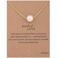 Romantic Love Pearl Necklace Collarbone Short Necklace