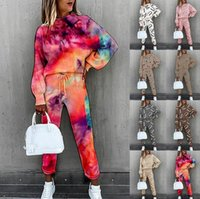 Autumn Women's Jogging Suit Long-sleeved Round Neck Top High-waist Lace-up Trousers Ladies Sportswear Suitable For Leisure Fitness Tracksuits