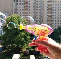 1000pcs 여름 뜨거운 판매 빛나는 거품 총 어린이 거품 스틱 만화 전기 기계 물 장난감