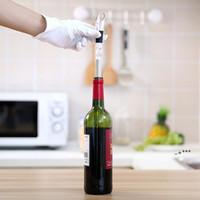 Version à chaud Refroidisseur de vin 304 Acier inoxydable Vigne rouge Popsicle Sticks Beige Refroidisseur de bière Outils d'été utiles avec emballage au détail EWD6092