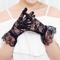 Bridal Gants Sunscreen Dentelle Pour Femmes Robe courte Mariée Mariage Sheer Princess Wending Accessoire Mariage
