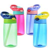 450ml Enfants Enfants Bouteille d'eau Sippy Coupe BPA Free Free Free Large Bouteille à la bouche avec une fuite de couvercle et des bouteilles anti-déversement 1743 V2