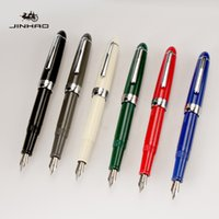 Nuovo arrivo Jinhao 992 Kawaii Lucency / Blue / Bianco / Rosso 12 colori Fontana Penna School Office Cancelleria di lusso scrittura di lusso penne
