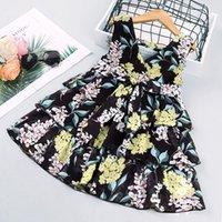 Crianças Vestidos Girls Designer Dress 2021 Verão Moda Princesa Dress Kids Designer Roupas Baby RoupasDesigners Roupas Crianças 725 S2